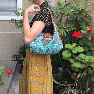Multicolored Isabella Fiore satin/leather purse